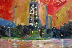 Painting#39-Cement-Factory-at-Night