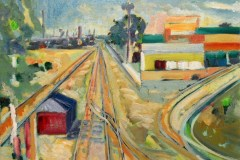Painting#61-Railway-Tracks-Looking-North-Regency-Road