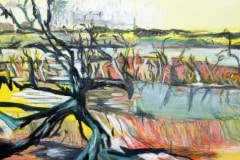 Painting#75-Dead-Trees-at-Katarapko-Creek