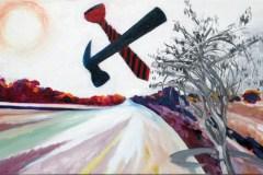 Painting#92-Future-City-with-Sidra-Tree