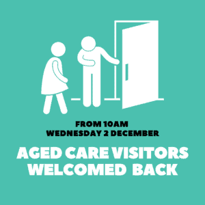 Aged Care homes re-open to visitors tomorrow